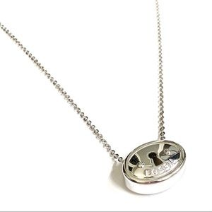 Fossil Sterling Silver Keyhole Necklace